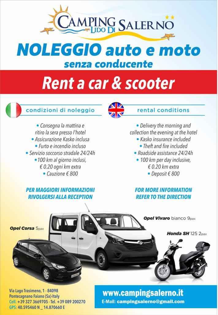 NUOVO SERVIZIO! NOLEGGIO AUTO / MOTO / VAN