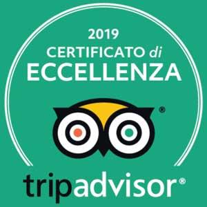 Certificato Eccellenza Tripadvisor 2019