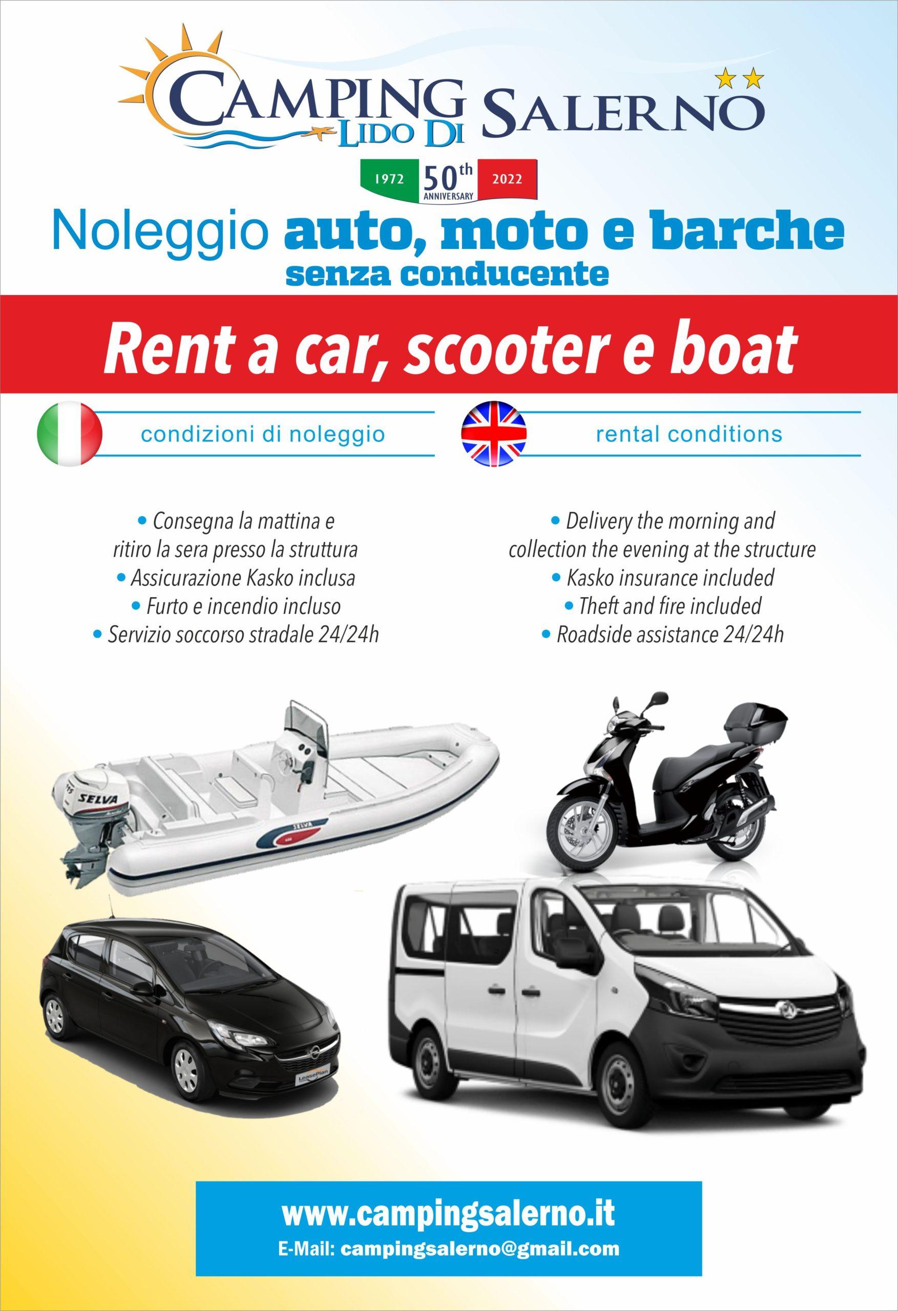 Noleggio Auto Moto Barche Scooter